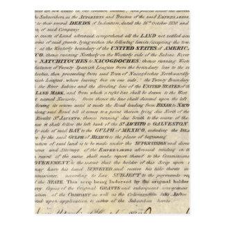 Galveston Bay et Texas Land Company Carte Postale