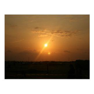 Galveston, coucher du soleil de TX Carte Postale
