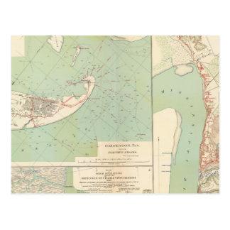 Galveston, port de Charleston, port le Hudson Carte Postale