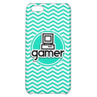 Gamer Aqua Chevron vert Étuis iPhone 5C