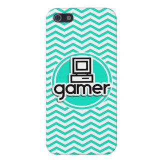 Gamer ; Aqua Chevron vert Coque iPhone 5