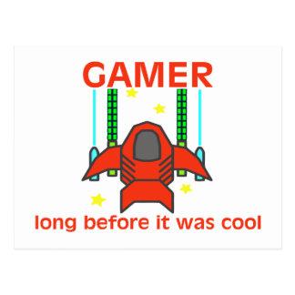 Gamer avant que c'ait été rétro style frais carte postale