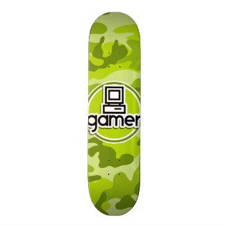 Gamer ; camo vert clair, camouflage plateaux de skate