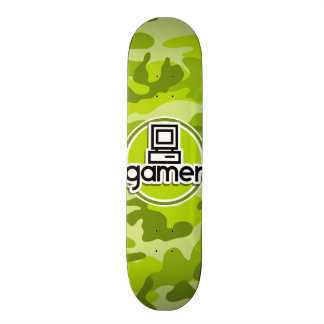 Gamer ; camo vert clair, camouflage planches à roulettes