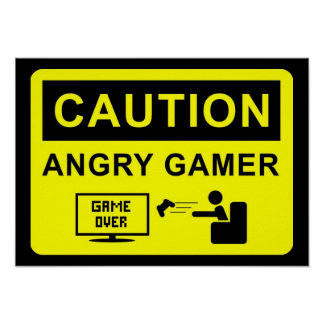 Gamer drôle poster