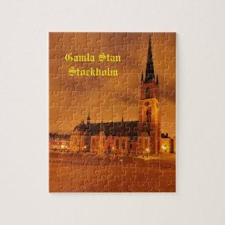 Gamla Stan à Stockholm, Suède Puzzle