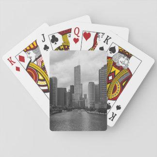 Gamme de gris de la rivière Chicago de tour Jeu De Cartes