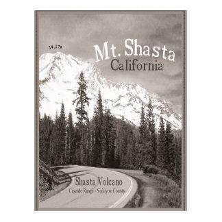 Gamme de montagne de cascade de Siskiyou de volcan Carte Postale