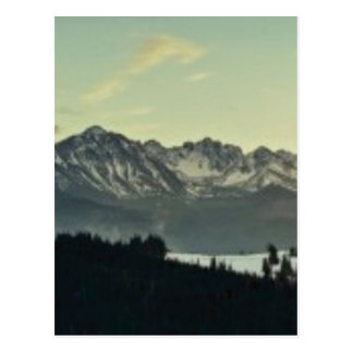 gamme de montagne de gloire carte postale