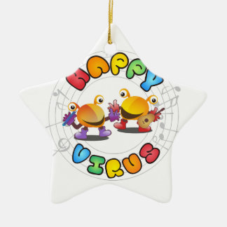 Gamme de produits heureuse de virus ornement étoile en céramique