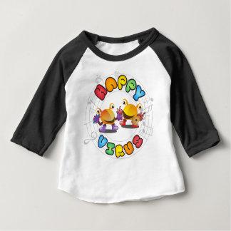 Gamme de produits heureuse de virus t-shirt pour bébé