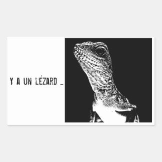 Gamme Lézard - Mushu Sticker Rectangulaire