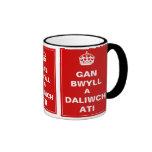 Gan Bwll un ~ Gallois de Daliwch Ati Tasse À Café
