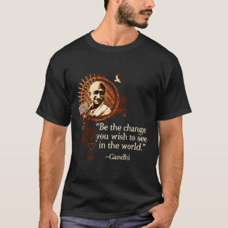 Gandhi génial - soyez le changement t-shirt