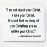 Gandhi sur des chrétiens tapis de souris
