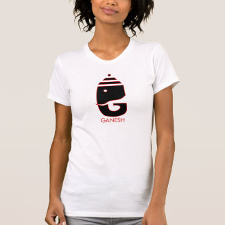 Ganesh rouge et noir t-shirt