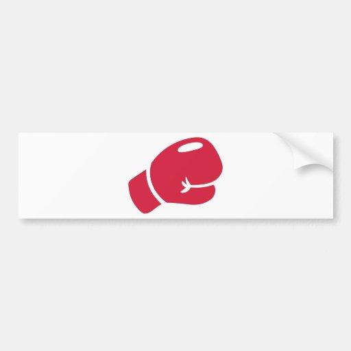Gant de boxe rouge autocollants pour voiture