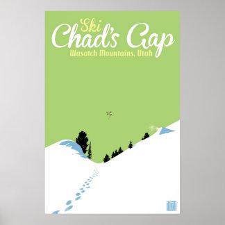 Gap du Tchad de ski Posters