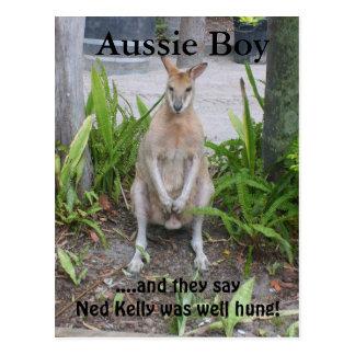 Garçon australien, carte postale