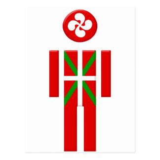 Garçon Basque drapeau Euskadi Carte Postale