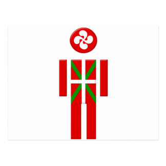 Garçon Basque drapeau Euskadi Cartes Postales