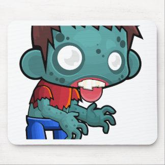 Garçon comique de zombi tapis de souris