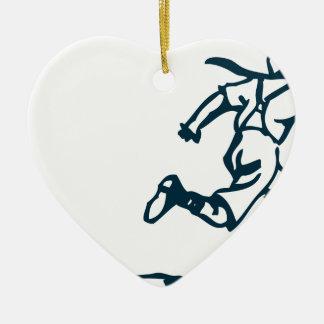 Garçon courant ornement cœur en céramique