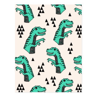 Garçon de Dino T-Rex de dinosaure/Andrea verts Cartes Postales