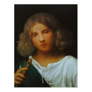 Garçon de Giorgione- avec la cannelure Carte Postale