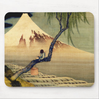 Garçon de Hokusai regardant le cru de Japonais du Tapis De Souris