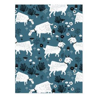 Garçon d'enfant de bébé bleu d'animal de ferme de cartes postales