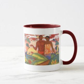Garçon et fille hawaïens - tasse d'Arman Manookian