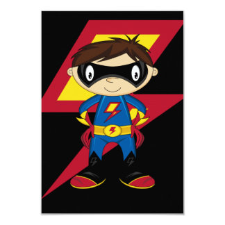Garçon mignon de super héros invitation