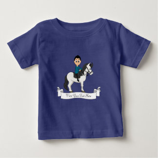 Garçon montant une bande dessinée de cheval t-shirt pour bébé