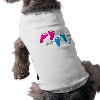 garçon ou fille ? le genre indiquent la partie t-shirt pour chien