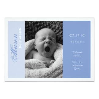Garçon personnalisable de faire-part de naissance