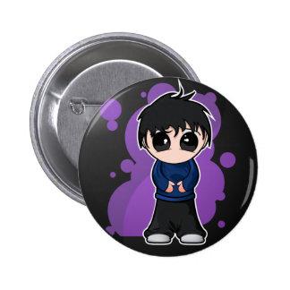 Garçon triste de Manga Badge Rond 5 Cm
