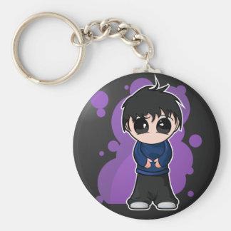 Garçon triste de Manga Porte-clé Rond
