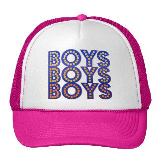 Garçons de garçons de garçons casquettes