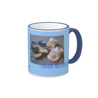 garçons de jumeaux mugs à café