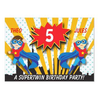Garçons de l'anniversaire | de super héros de faire-parts