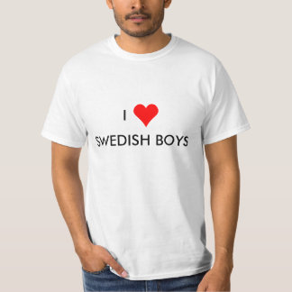 garçons de Suédois du coeur i T-shirt