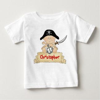 Garçons mignons personnalisés de pirate de bébé t-shirt pour bébé