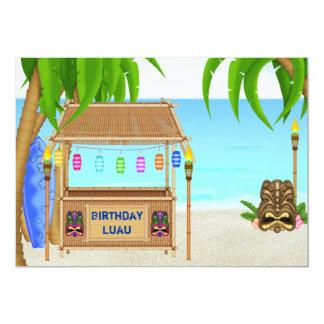Garçons tropicaux de ~ d'invitation d'anniversaire carton d'invitation  12,7 cm x 17,78 cm