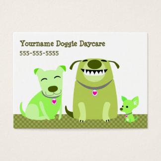 Garde de chienchien/marcheur de chien cartes de visite