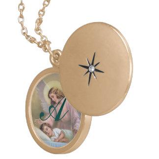 Garde de l'ange des enfants, cru, reproduction médaillon rond