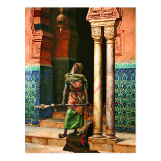 Garde de Nubian par Allemand Carte Postale