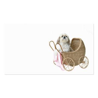 Garde d'enfants d'animal familier carte de visite standard