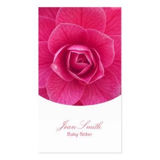 Garde d'enfants florale rose chique carte de visite standard