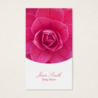 Garde d'enfants florale rose chique cartes de visite